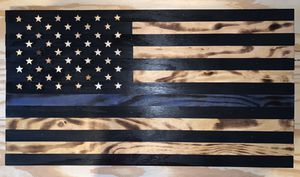 Wooden Thin Blue Line Flag / Thin Red Line Flag for Sale in San Tan Valley, AZ