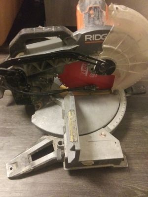 Ridgid 15amp 12in. Dual Bevel Miter Saw for Sale in Bladensburg, MD