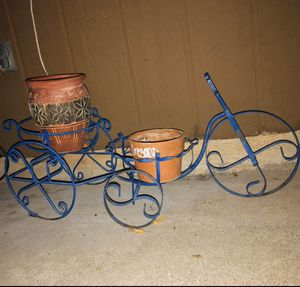Iron Bike Plant Holder Basket for Sale in Coppell, TX