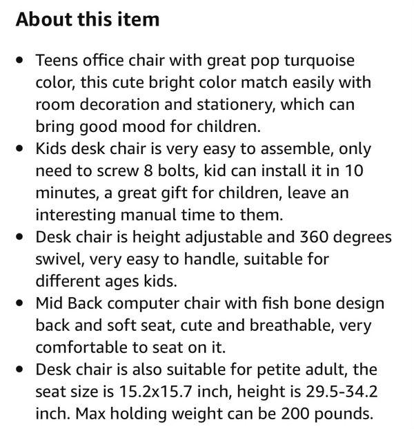 Desk Chair Kids / Teens