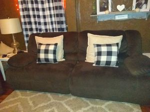 Ashley reclining couch and chair and a half for Sale in Georgetown, KY