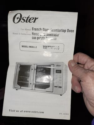 Oster french door countertop oven with rack for Sale in Paterson, NJ