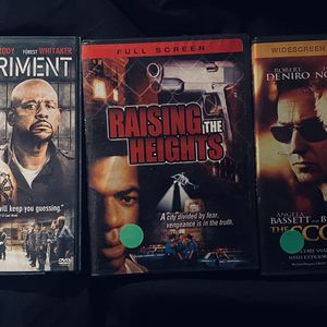 3 ACTION MOVIE DVD SET: Includes The Score, Raising The Heights, & The Experiment for Sale in Mansfield, TX
