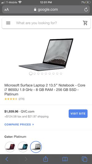Microsoft Surface Laptop 2 13.5 for Sale in Hartford, CT
