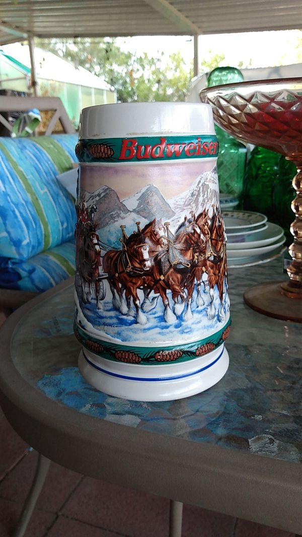 1993 Budweiser holiday Stein