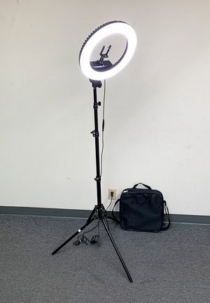 """(NEW) $75 each LED 13"""" Ring Light Photo Stand Lighting 50W 5500K Dimmable Studio Video Camera for Sale in South El Monte, CA"""
