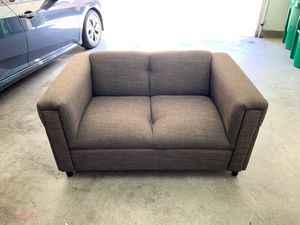 Love Seat Couch Gray/Tan Like New Condition for Sale in Irvine, CA