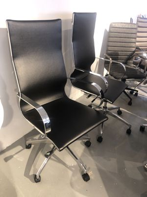 Set of 2 black office chairs for Sale in Rockville, MD