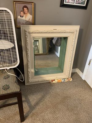 Antique mirror Shadow Box. Had 2 glass shelves for displaying for Sale in Marietta, GA