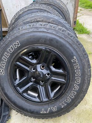 5 Jeep wheels and tires 245/75/16 for Sale in Chula Vista, CA