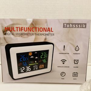 Tohsssik Weather Station Wireless Indoor & Outdoor Thermometer Hygrometer for Sale in Spring Hill, FL