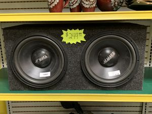 "Mmats Pro Audio Dual 12"" Competition Subwoofer Box for Sale in Lauderhill, FL"