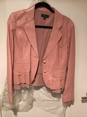 PINK LEATHER AND SILK JACKET for Sale in Irvine, CA