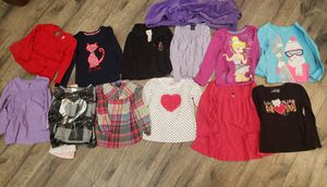 Girls size 4, 11 shirts and 2 sweaters. $ 10 for all. Candies brand, chaps brand, carters brand for Sale in Gilbert, AZ