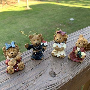 Teddy Bears Angel Ornament Figurines / miniature bears for Sale in Berlin, NJ