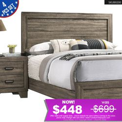 *REDUCED PRICE* 4PCS QUEEN BEDROOM SET BED+DRESSER+MIRROR+NIGHTSTAND B9200 for Sale in Long Beach,  CA
