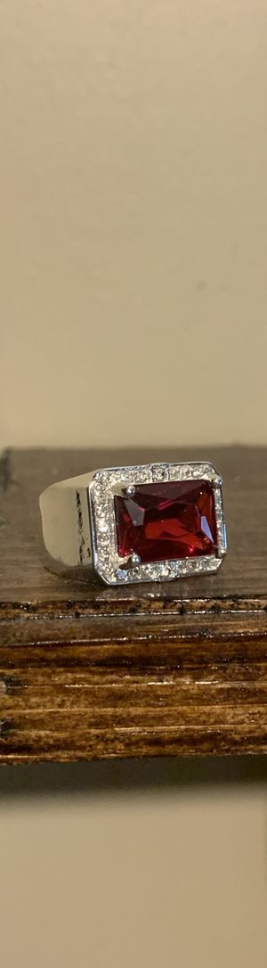 Silver and Ruby Ring for Sale in Ronkonkoma, NY