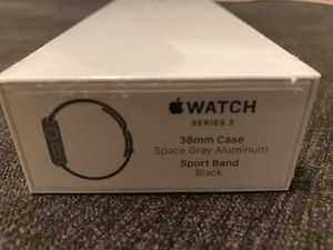 Unopened Apple Watch series3–38mm, black band for Sale in San Diego, CA