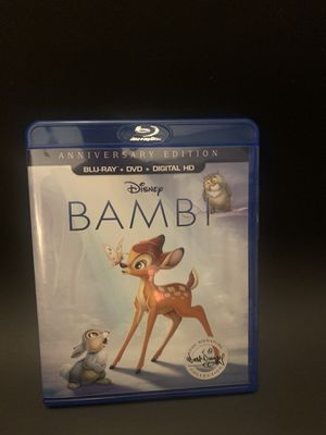Bambi Blu-ray Disney for Sale in Covina, CA