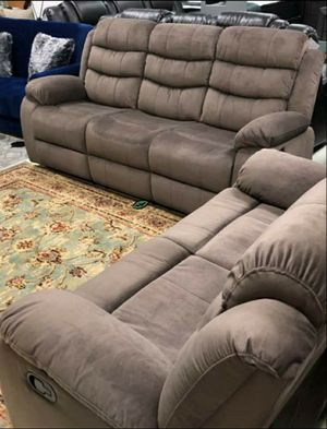 💲39 Down Payment 🍃Best Deal  Brownie Cocoa Short Plush Reclining Living Room Set | U8400 for Sale in Laurel, MD