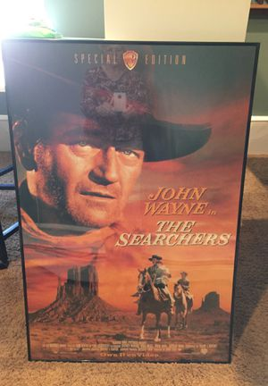 John Wayne poster in frame for Sale in Warrenton, VA