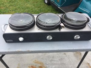 3 station crock pot cooker for Sale in Haines City, FL