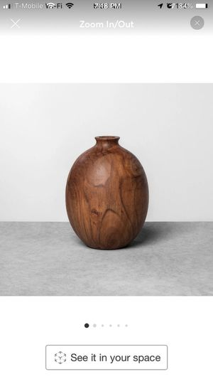 Hearth and hand wood vase for Sale in Gilbert, AZ