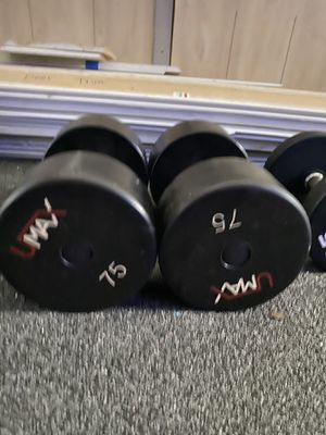 UMAX 75lbs of dumbbells/weights COMMERCIAL GRADE for Sale in Tampa, FL