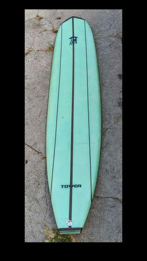 "9'6"" beginner longboard surfboard with roof rack for Sale in Los Angeles, CA"