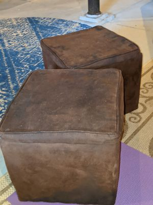 Matching storage accent stools for Sale in St. Louis, MO