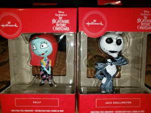 Bundle NBX Hallmark Ornaments Jack and Sally for Sale in Philadelphia, PA