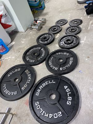 Olympic CAP Weight Set 240lbs Total for Sale in Pawtucket, RI
