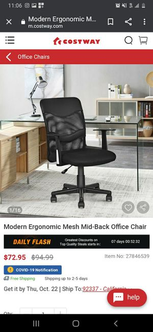 New Office Chair for Sale in Buena Park, CA