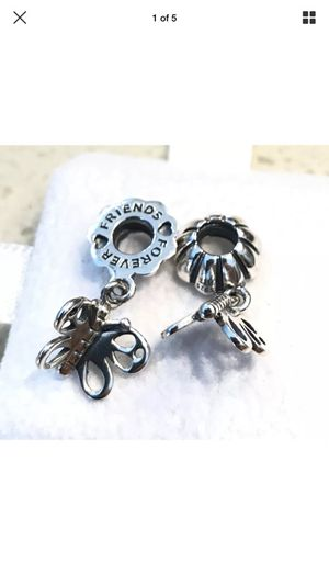 1 Pair of Pandora Best Friends Forever, Dangle Charm #790531 + FREE Pandora Gift Pouch for Sale in Rancho Cucamonga, CA