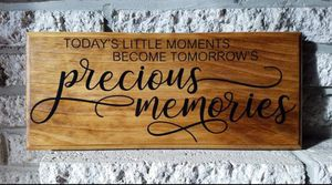 """Handmade wooden sign """"precious moments..."""" for Sale in Frederick, MD"""