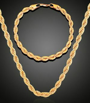 16-30 Inch 2Pc/Set 3mm Long Rope Chain for Sale in Wichita, KS