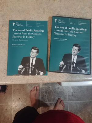 The art of public speaking dvd and book for Sale in Klamath Falls, OR