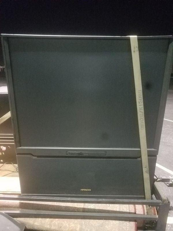 Hitachi 50in flat screen projector tv