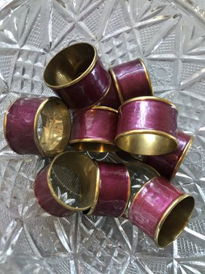 Gold & Bordeaux Napkin Rings for Sale in Los Angeles, CA