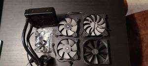 4 PC Case Fans + CPU Water Cooler (AMD Bracket for Cooler) for Sale in Pompano Beach, FL