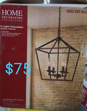 4 light chandelier farmhouse style for Sale in Bakersfield, CA