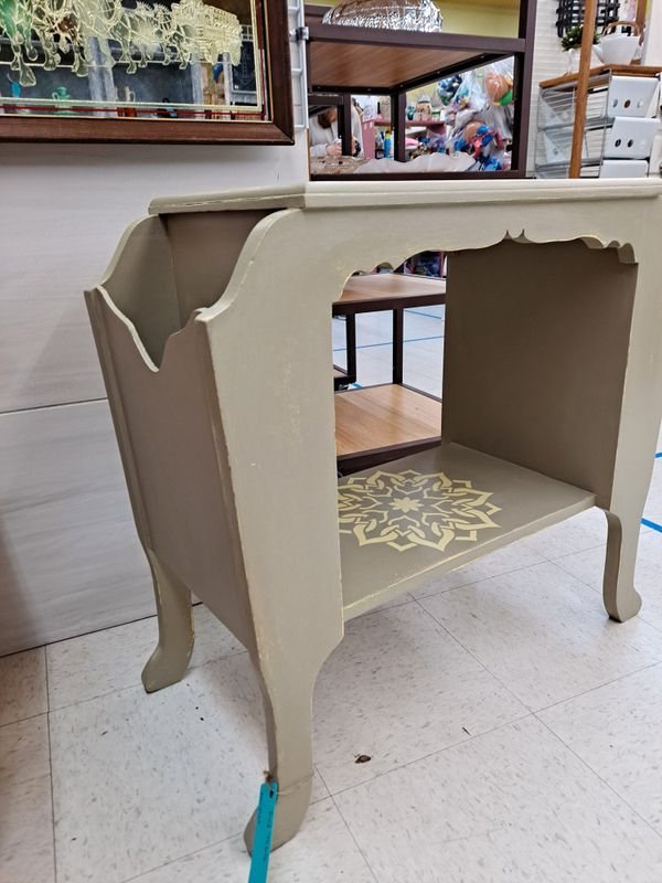 End Table With Side Storage