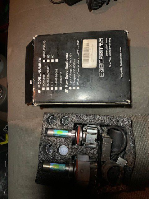 9004 LED kit Like new Works perfect Comes with bulb Lenses Covers for color