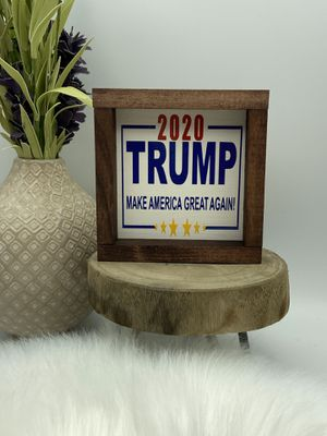Donald Trump 2020 mini wood sign for Sale in Harpers Ferry, WV