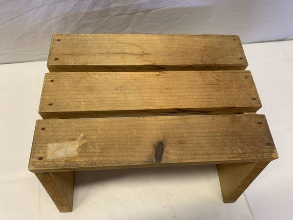 Small Wooden Step Stool - Solid Wood - Handy to have