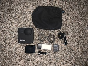 Brand new GoPro max 360 camera used once Comes with original box( I got it as a gift and the day before I bought the same camera) for Sale in Norfolk, VA