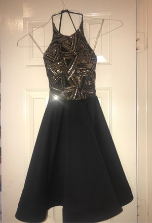 Black A'gaci Dress with Gold Details for Sale in Pasadena, TX