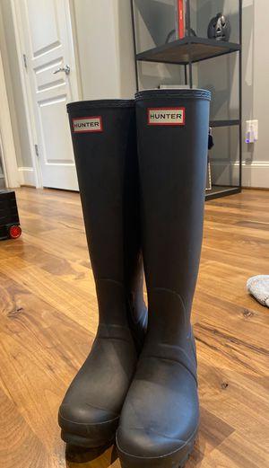 Hunter - tall, black rain boots for Sale in Fairfax, VA