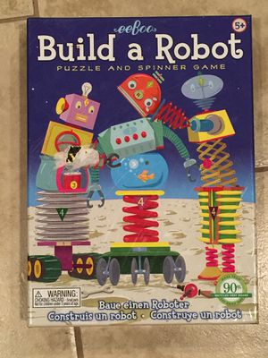 Eeboo build a robot puzzle & spinner game. for Sale in Pennington, NJ