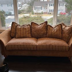 Paisley printed neutral regal living room couch set for Sale in Springfield Township,  NJ